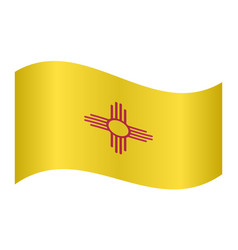 flag of new mexico waving on white background vector image vector image