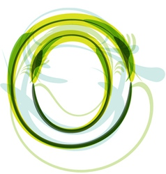 Green letter O vector image vector image