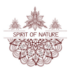 hand drawn boho style design with mandala arrow vector image vector image