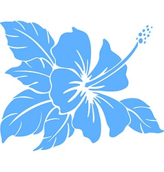Hibiscus flower Silhouette vector image vector image