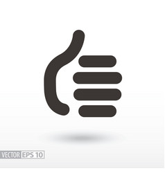 like flat sign thumbs up like social network icon vector image vector image