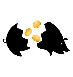 Money Saving bank break vector image vector image