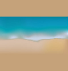 sea and sand blurry background vector image vector image