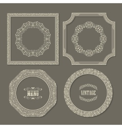 Set of vintage frames borders vector image vector image