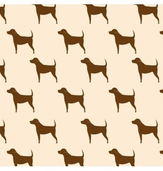 silhouette dog seamless pattern icon design vector image