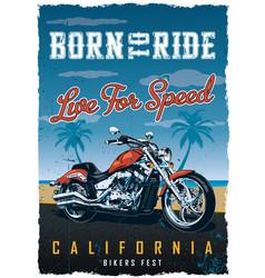 bikers fest poster vector image