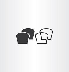 black bread icons vector image vector image