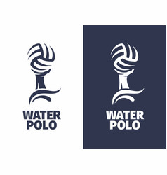 modern professional sign logo water polo vector image