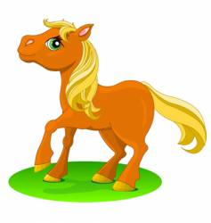 pony red vector image