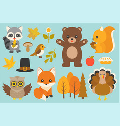 wild animal and elements vector image