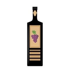wine bottle grape sticker badge vector image