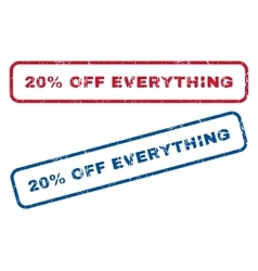 20 Percent Off Everything Rubber Stamps vector