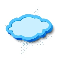 3d cloud frame vector