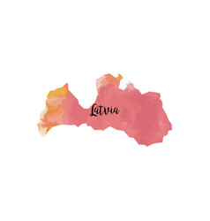 abstract latvia map vector image