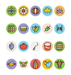 Agriculture Icons 4 vector image