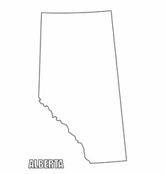 Alberta province outline map vector