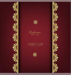 Arabesque thai classic gold background vector