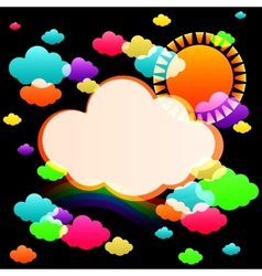 Art sky color vector