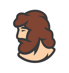bearded man sign vector image