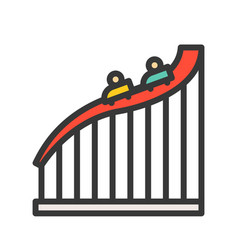 Big dipper ride icon filled outline style vector