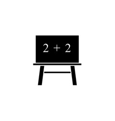 blackboard of school icon the teach mathematical vector image