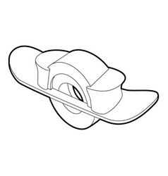 Blocked wheel icon outline style vector
