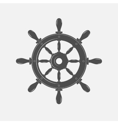 Boat steering wheel icon on white vector
