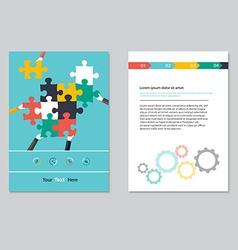 brochure template design abstract backgroundsflat vector image