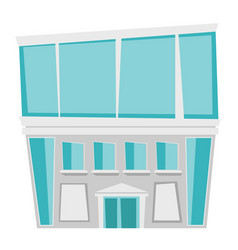 building with entrance cartoon vector image
