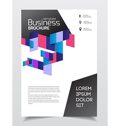 Business presentation with photo and geometric vector image