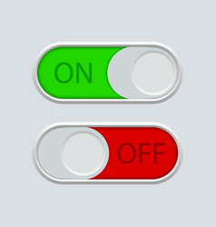Button off switch and enable icon toggle in vector