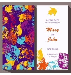 card template for Save The Date baby vector image