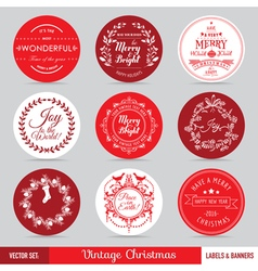 Christmas Labels Banners and Tags Set vector
