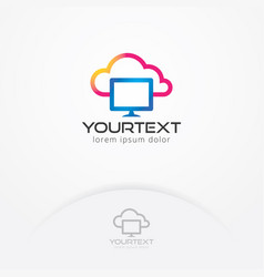 cloud computing logo vector image