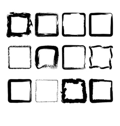 Collection of hand drawn squares vector image