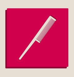 Comb sign grayscale version of popart vector