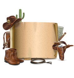 Cowboy Scroll vector