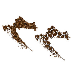 Croatia - map of coffee bean vector