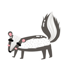 cute animals skurnk cartoon isolated icon design vector image