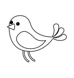 cute bird animal wildlife image vector image