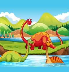 Dinosaur in the nature vector