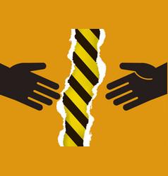 do not hand shake danger virus infection vector image