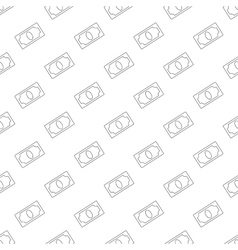 Dollar pattern seamless vector image