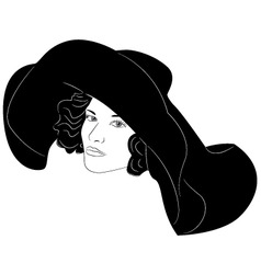 Fashionable hat vector