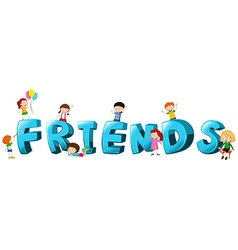 Font design for word friends vector