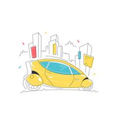 futuristic self driving smart car vector image