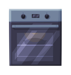 Gas or electric stove oven household kitchen vector