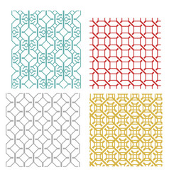 Geometric seamless weave line pattern vector
