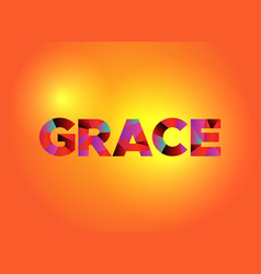 Grace theme word art vector