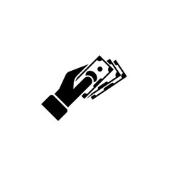 hand giving money flat icon vector image